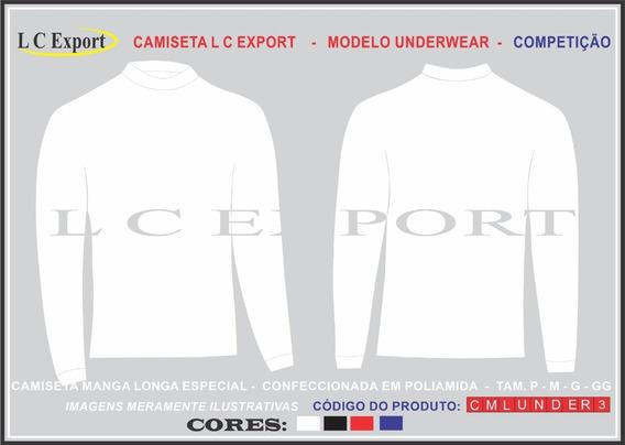 Camiseta Segunda Pele Poliamida Manga Longa