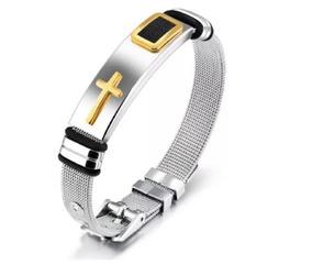 Bracelete Cruz Templaria Malta Pulseira Masculina Unissex