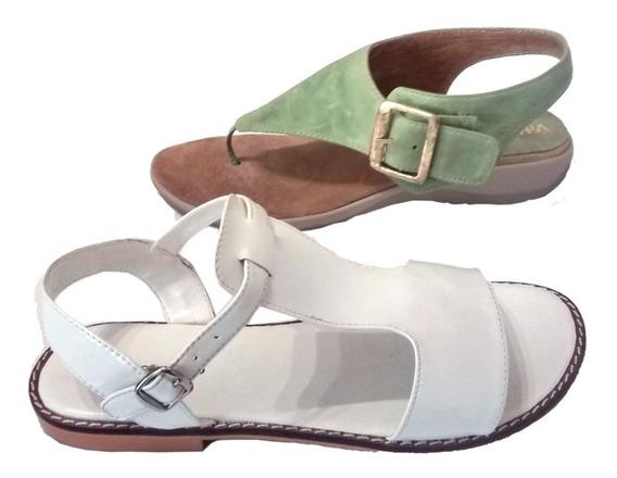 Zapato Mujer Sandalia Ojota 2x1 No. 39