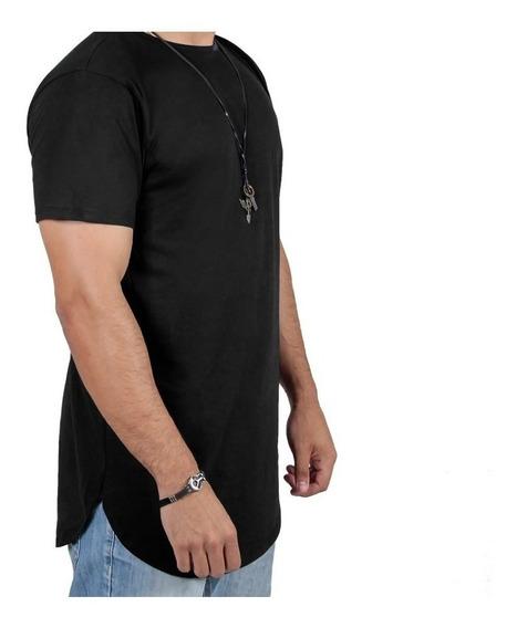 Kit 10 Un Camisas Blusas Masculinas Long Line Oversize Swag
