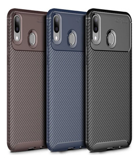 Capa Case Anti Impacto Galaxy A30 Carbon Fiber