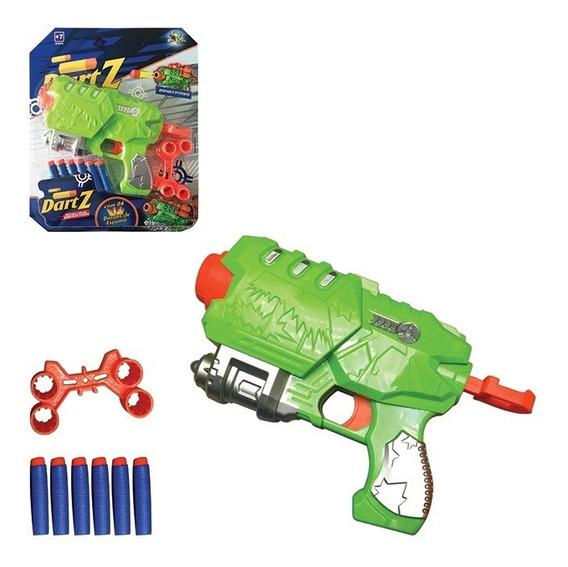 Pistola Com Dardos De Espuma Disparo Potente