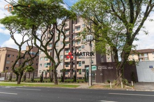 Ótimo Apartamento Com 2 Dormitórios À Venda, 60 M² Por R$ 269.000 - Capão Raso - Curitiba/pr - Ap6698