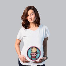 d554908be Blusa Especial Maternidad Embarazo Super Bebe Heroe Heroina