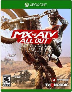 Mx Vs Atv All Out / Xbox One / N0 Codigo / Modo Local