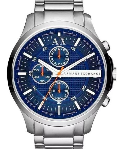 Relogio Px1518 Armani Exchange Ax2155 Prata / Azul C/ Caixa