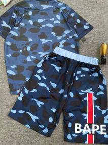 Camisa E Bermuda Bape-paris Edicão Ilimitada
