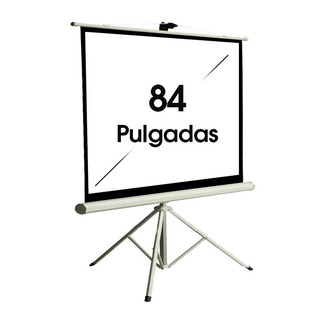 Pantalla Proyector Manual 84 Pulgadas 4:3 Con Tripode Daza