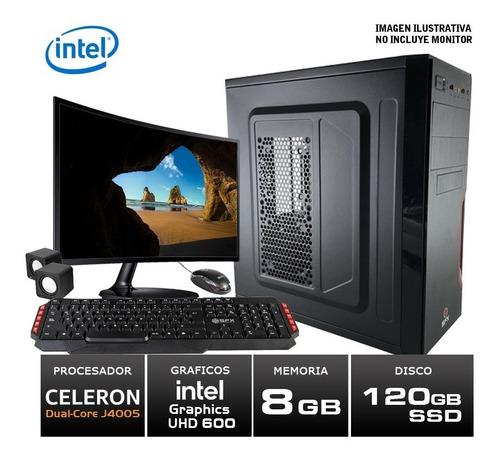 Imagen 1 de 6 de Pc Armada Kit Intel Asus Celeron 8gb Ram 120gb Ssd + Wifi