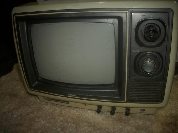 Televisao /antiga 10 Polegada /preto Branco/so Decoraçao Sem