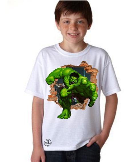 Playera Bien Elegante Avengers Hulk Para Niño
