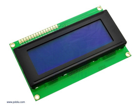 Display Lcd 20x4 2004 I2c Backlight Azul Escrita Branca