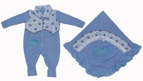 Saída De Maternidade Macacão E Vestido Duas Peças Menina(o)