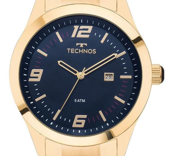 Relógio Masculino Technos Dourado 2115mnz/4a Original