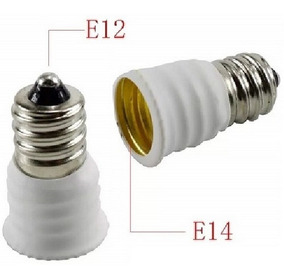 Adaptador Rosca E12 Para E14 Branco 1 Lote Com 10 Unidades