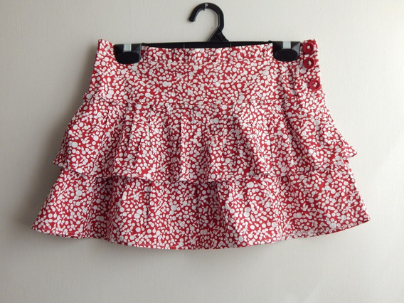 Minifalda Olanes Roja Bcbg