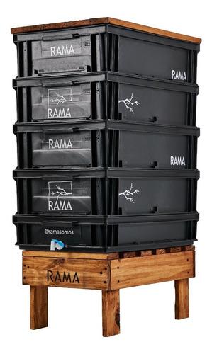 Imagen 1 de 5 de Compostera Rama Somos Jardín 120 L Canilla Lombrices Manual