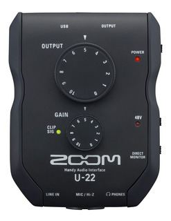 Placa Interface De Audio Zoom Pro U-22 Usb Phantom 48v