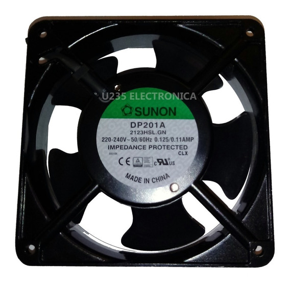 Turbina Cooler Extractor Fan Metal Sunon 220v 120x38 Ventilador