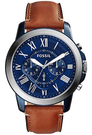 Relógio Fossil Masculino Grant Fs5151/0an Original Nota