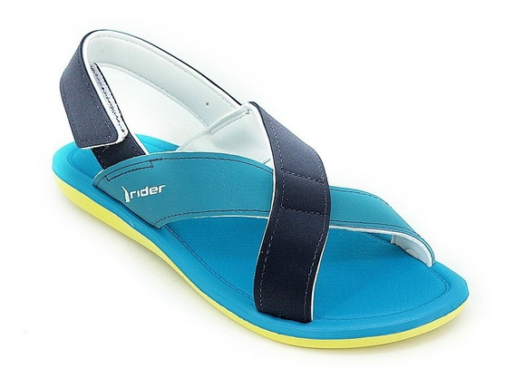 Sandalia Rider Plush Iii Sandal Amarillo Azul Mujer