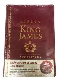 Bíblia De Estudo King James Atualizada - Letra Grande - Luxo
