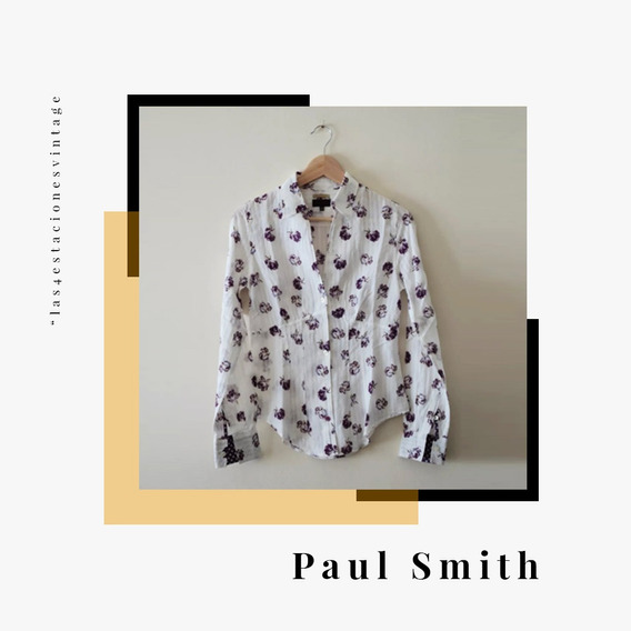Camisa Estampada Importada Made In Italy. Paul Smith