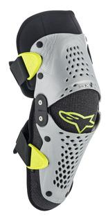 Protector Alpinestars Joven Sx-1 Rodilleras Plata/amarillo L