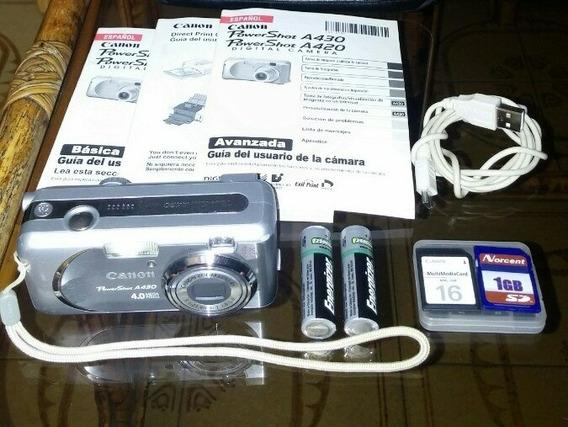Cámara Digital Canon Powershot A430 + 2sd 16m Y 1gb Con Todo