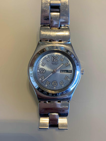 Relógio Swatch Irony Usado Em Aço Inoxidável Prata