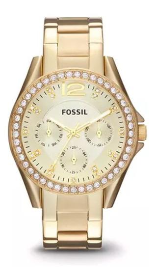 Relógio Fossil Dourado - Es3203/4dn