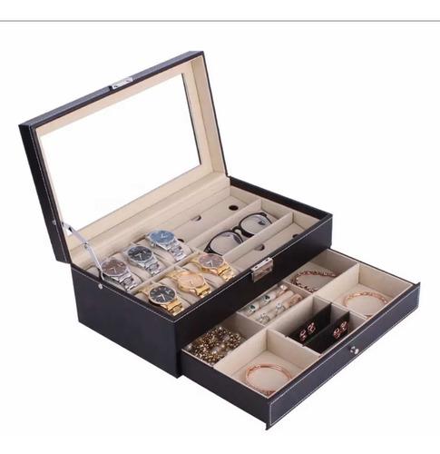 Joyero Para Guardar 6 Relojes ,3 Gafas ,accesorios Y Anillos