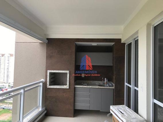 Apartamento Com 3 Dormitórios À Venda, 121 M² Por R$ 1.290.000 - Edifício Garnet - Parque Residencial Nardini - Americana/sp - Ap1043