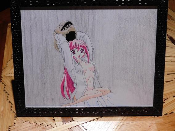 Dibujo Anime Lucy Elfen Lied Prismacolor Premier Strathmore