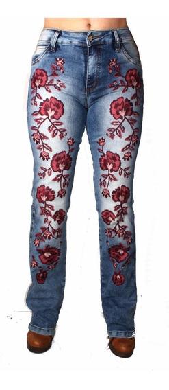 Calça Country Bordada Jeans Clara Alabama