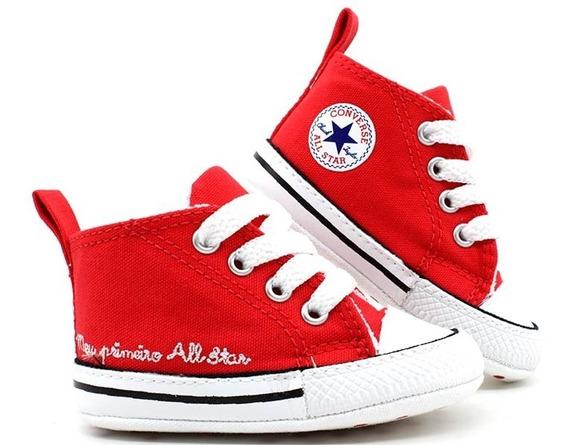 Tênis Converse Meu Primeiro All Star Vermelho Ck0440 Loja Pixolé