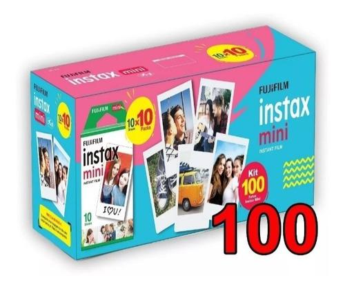 Imagem 1 de 4 de Papel Filme Para Instax Mini 7, 8, 9, 11 100 Fotos 5,4 X 8,6