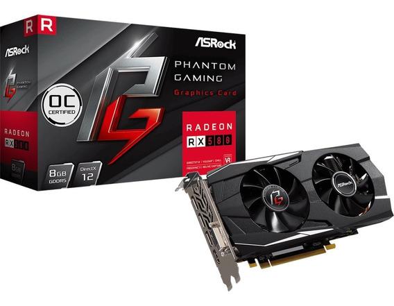 Placa De Video Asrock Phantom Gaming X Amd Rx580 8g Oc Gddr5