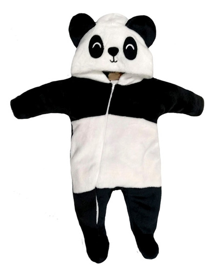 Mameluco Con Gorro Bordado Panda