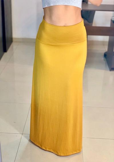Faldas Largas Elegantes O Casuales En 4 Colores Envío Gratis