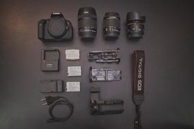 Canon T5i + 18-55 Stm + 50mm 1.8 + Battery Grip + 3 Baterias