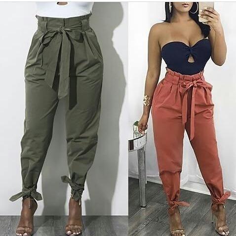 Pantalon Alto Arruche Lazo Moda 2018 Mercado Libre