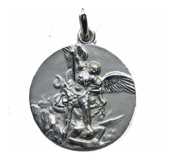 Medalla Plata 925 San Miguel Arcángel 334/1 Bautizó Comunión