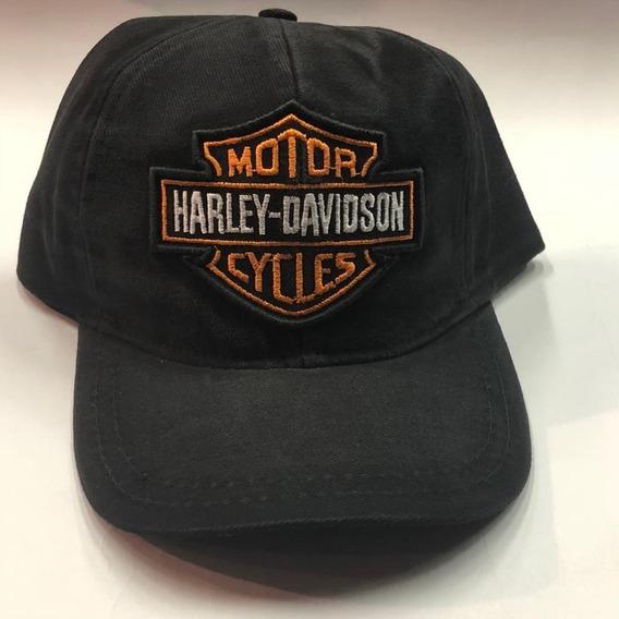 Bone Harley Davidson Preto Estonado Classico