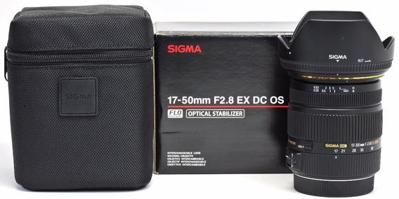 Lente Sigma 17-50mm F/2.8 Dc Ex Os Hsm Autof Estab Canon Nfe