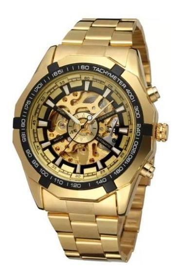 Relógio Masculino Forsining Esqueleto Mecânico Automático