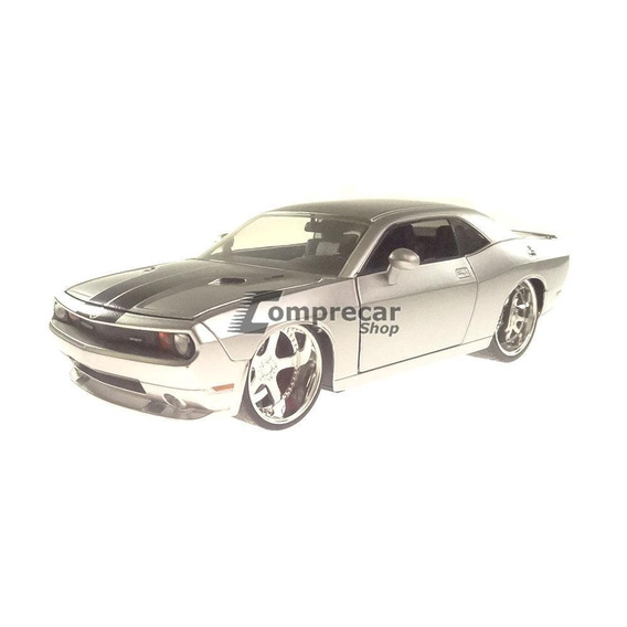 Miniatura Dodge Challenger Srt8 2008 Prata Jada Toys 1/24