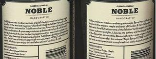 Noble Tónico Jarabe De Arce Caja De Regalo - Incluye Noble T