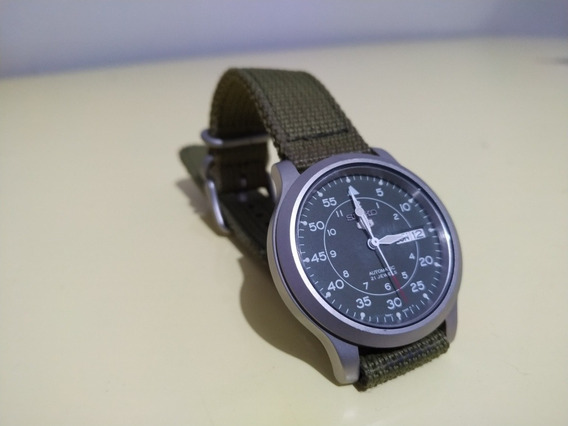 Relógio Seiko 5 Militar Snk809 Verde Automático