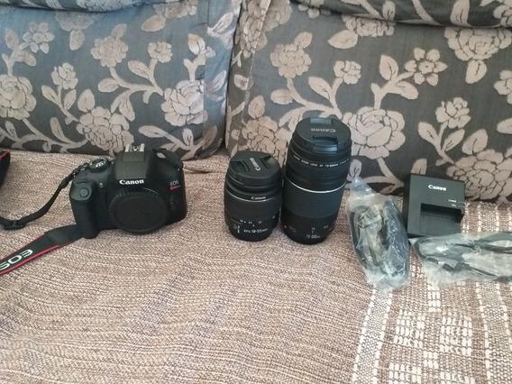 Câmera Digital Canon T6 Profissional, Com Duas Lentes.